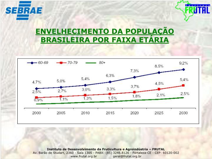 ENVELHECIMENTO DA POPULAÇÃO BRASILEIRA POR FAIXA ETÁRIA