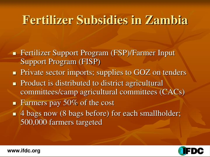 Fertilizer Subsidies in Zambia