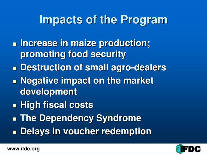 Impacts of the Program