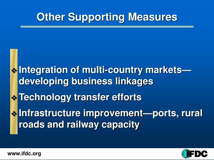 Other Supporting Measures