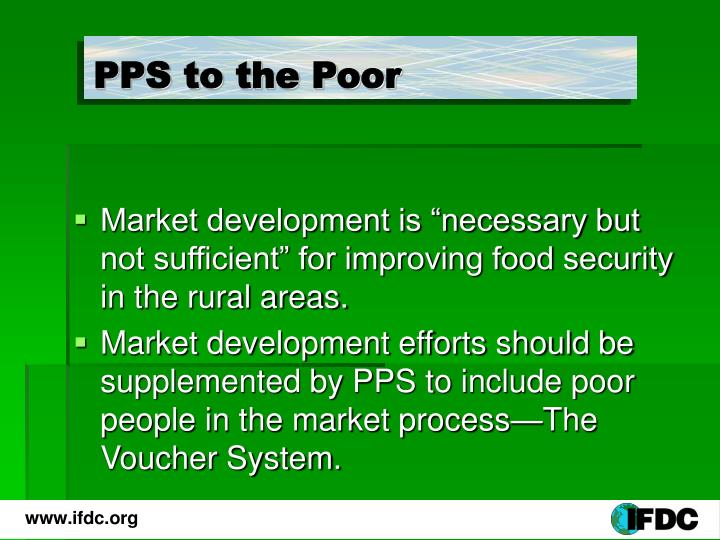 PPS to the Poor