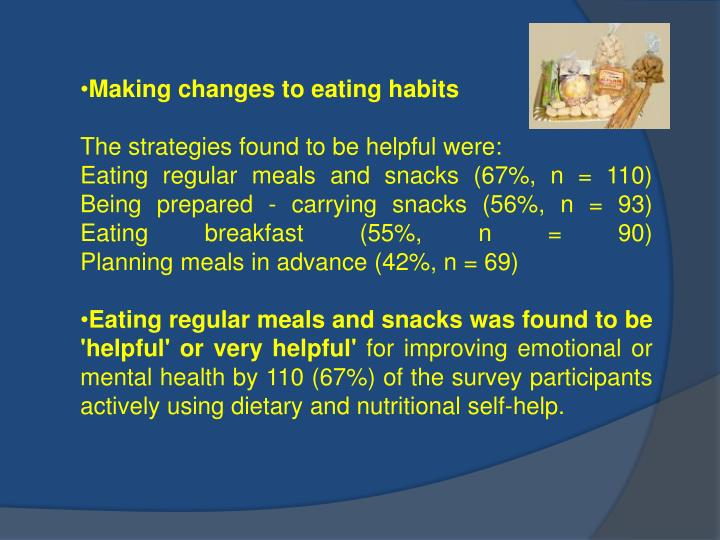 Making changes to eating habits