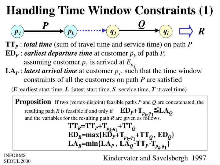 Handling Time Window Constraints (1)