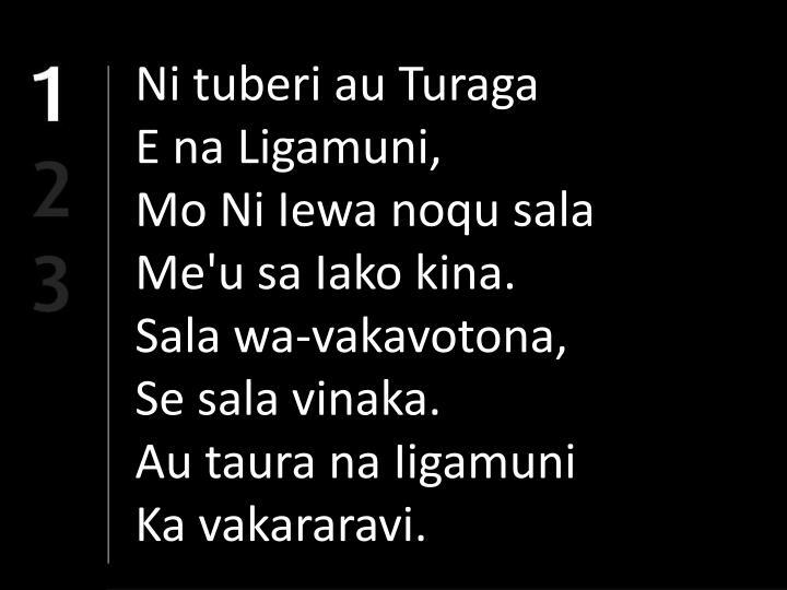 Ni tuberi au Turaga
