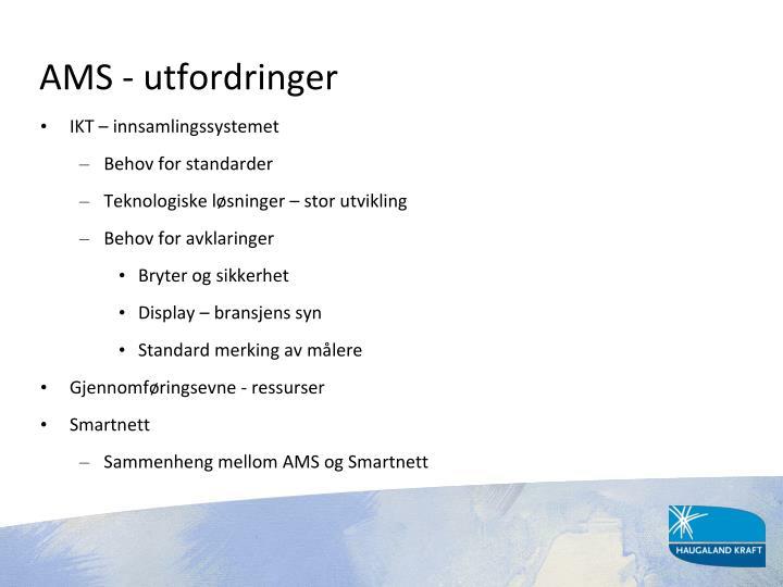 AMS - utfordringer