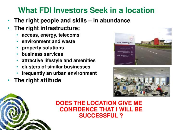 What FDI Investors Seek in a location