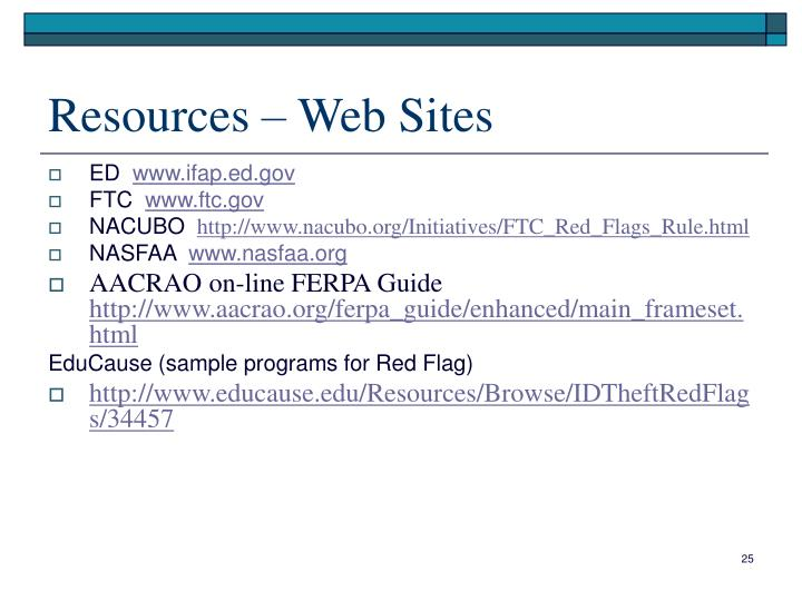 Resources – Web Sites