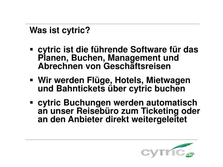 Was ist cytric?