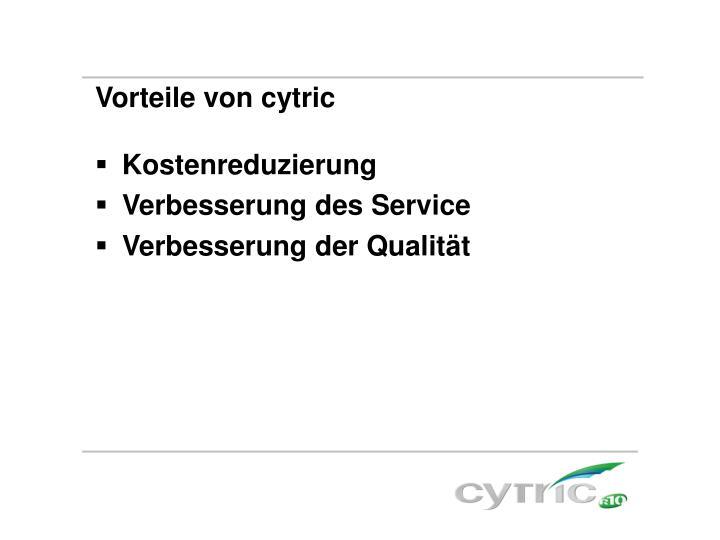Vorteile von cytric
