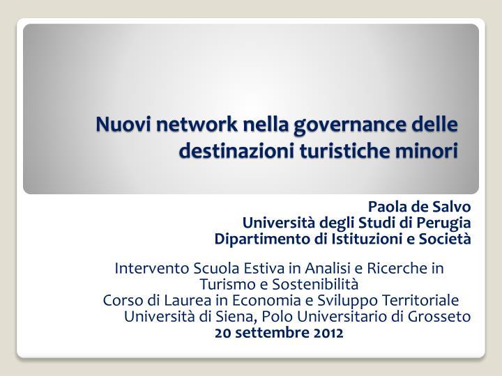Nuovi network nella
