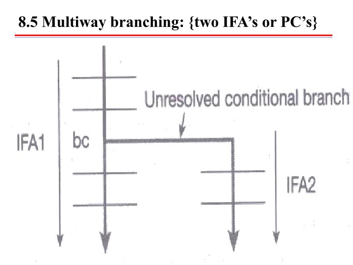 8.5 Multiway branching: {two IFA's or PC's}