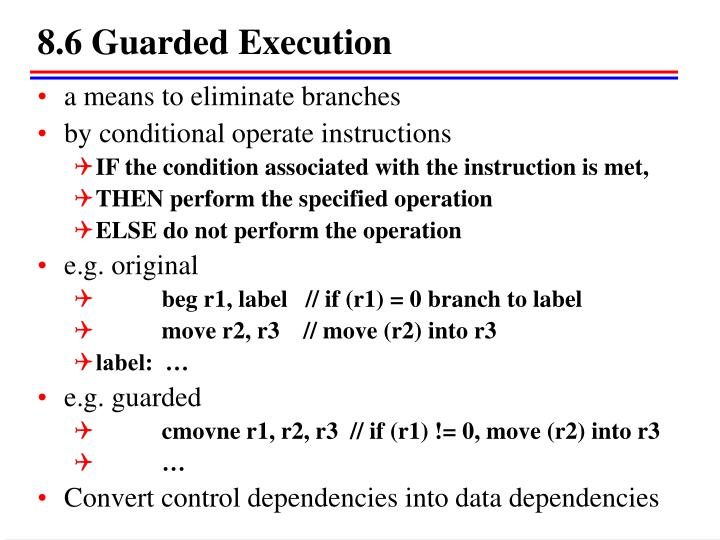 8.6 Guarded Execution
