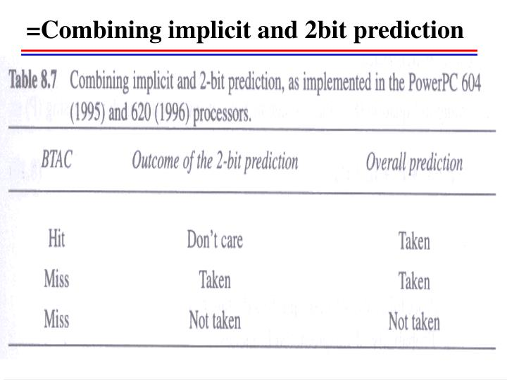 =Combining implicit and 2bit prediction
