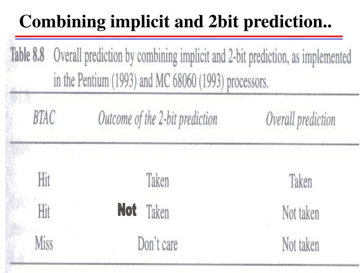 Combining implicit and 2bit prediction..