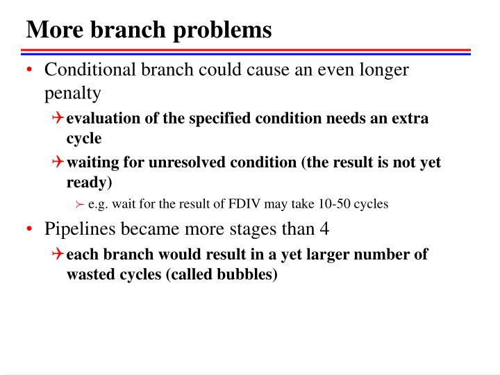 More branch problems