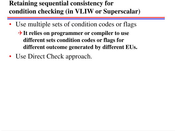 Retaining sequential consistency for