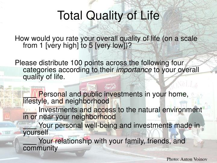 Total Quality of Life