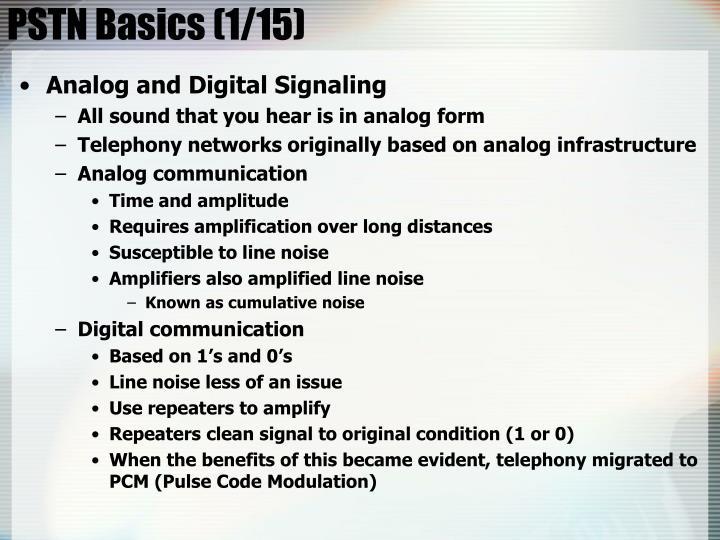 PSTN Basics (1/15)
