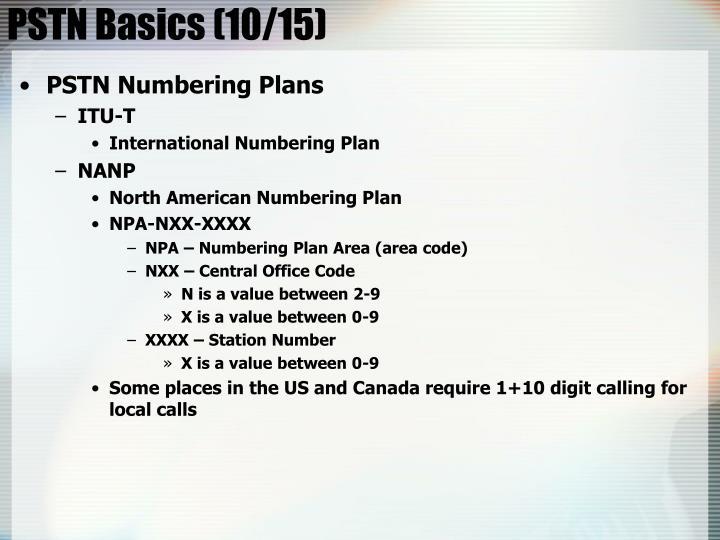 PSTN Basics (10/15)