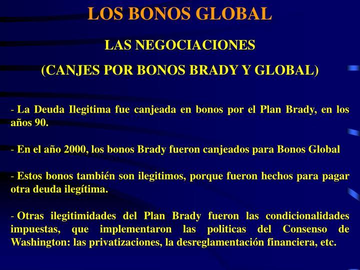 LOS BONOS GLOBAL