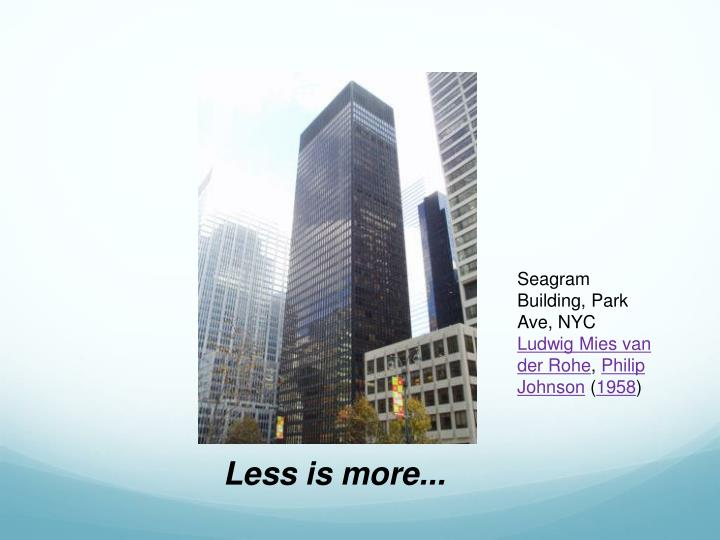 Seagram Building, Park Ave, NYC