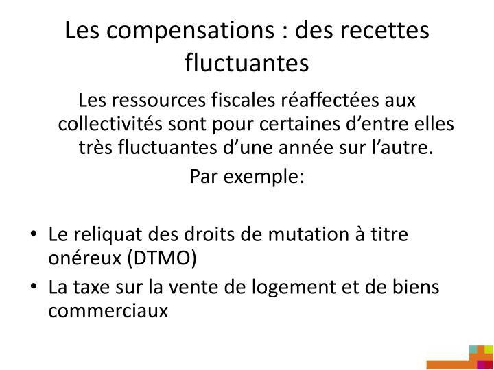 Les compensations : des recettes fluctuantes