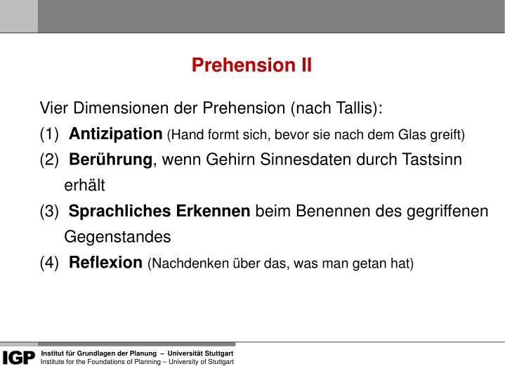 Prehension II