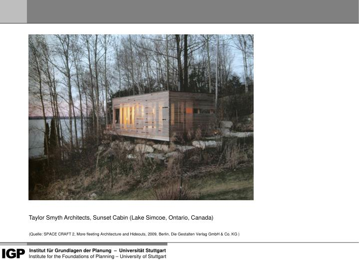 Taylor Smyth Architects, Sunset Cabin (Lake Simcoe, Ontario, Canada)