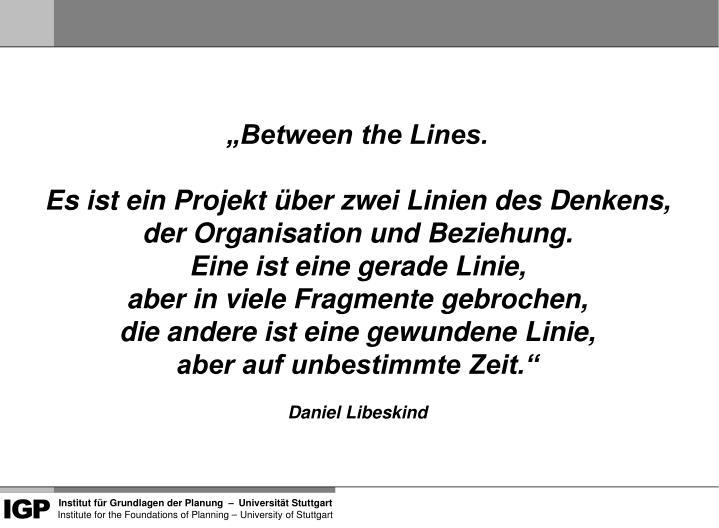 """""""Between the Lines."""