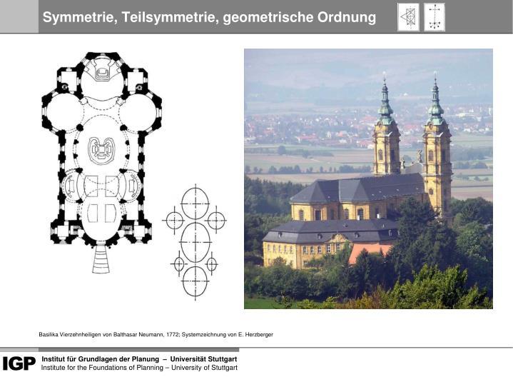 Symmetrie, Teilsymmetrie, geometrische Ordnung