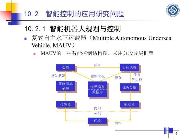 10.2  智能控制的应用研究问题
