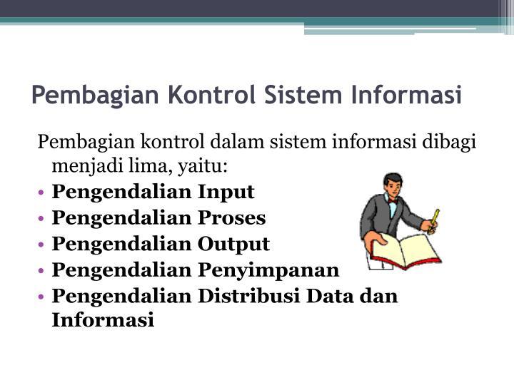 Pembagian Kontrol Sistem Informasi