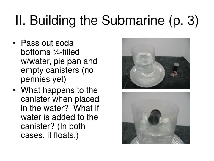 II. Building the Submarine (p. 3)
