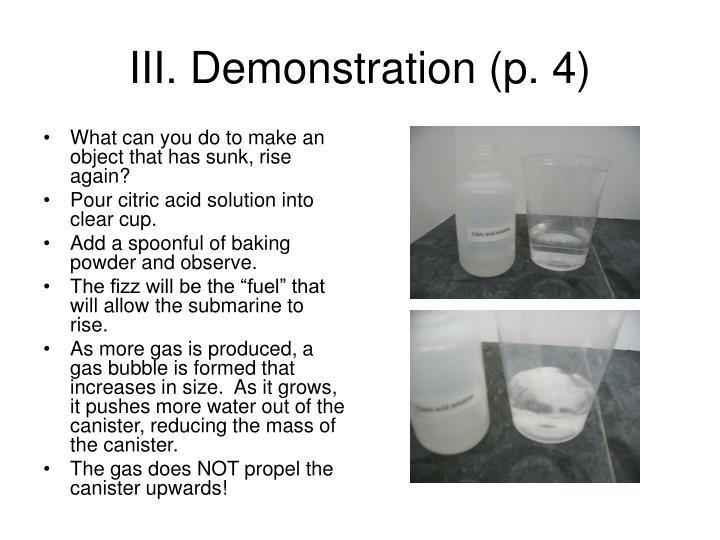 III. Demonstration (p. 4)