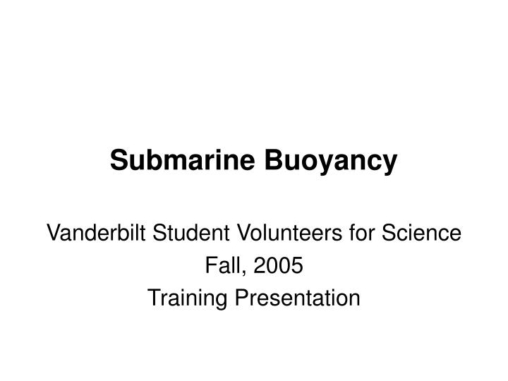 Submarine Buoyancy