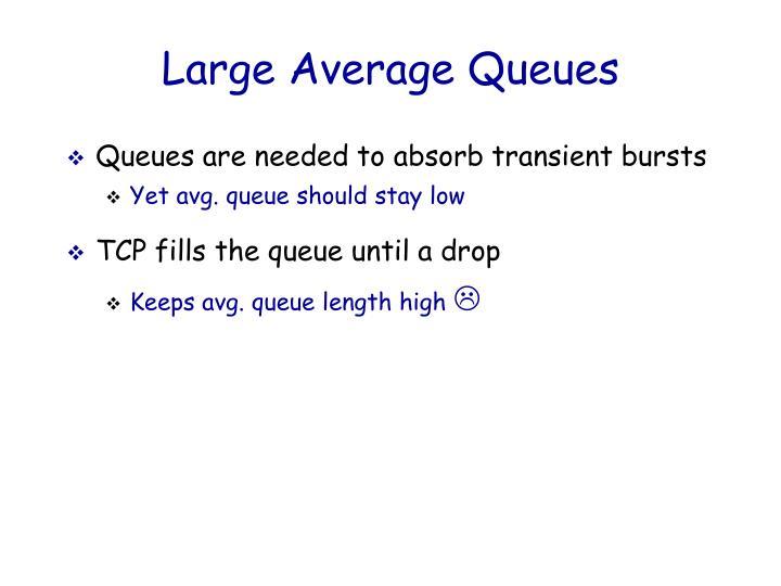 Large Average Queues