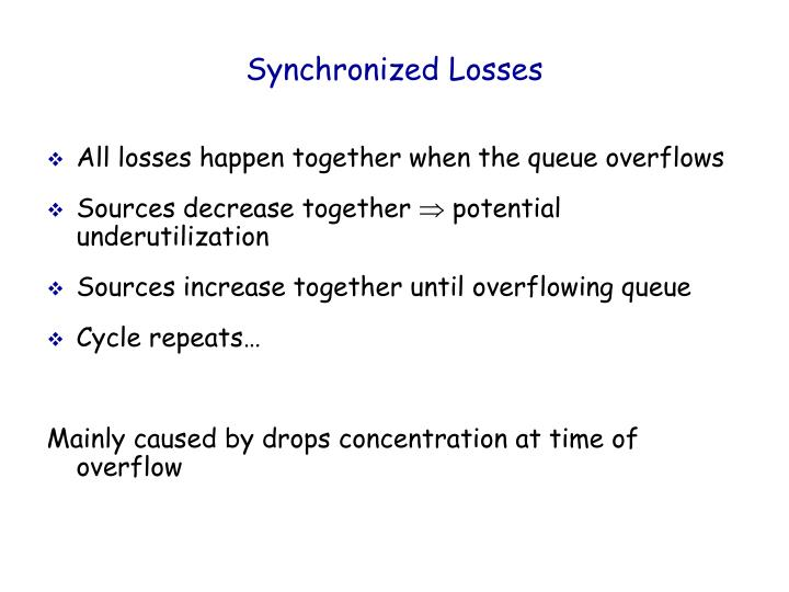 Synchronized Losses