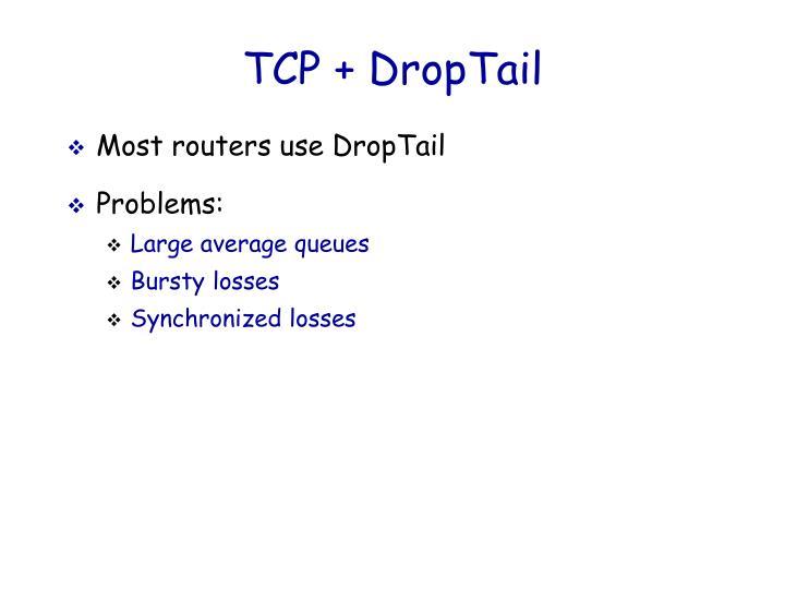TCP + DropTail