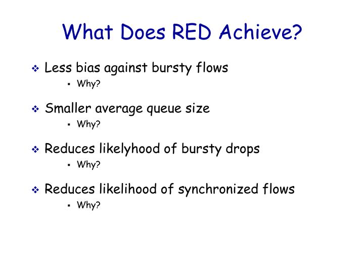 What Does RED Achieve?