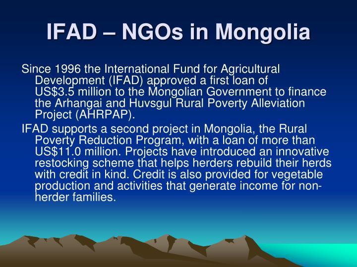 IFAD – NGOs in Mongolia