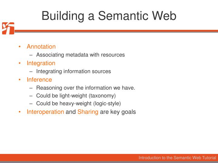 Building a Semantic Web