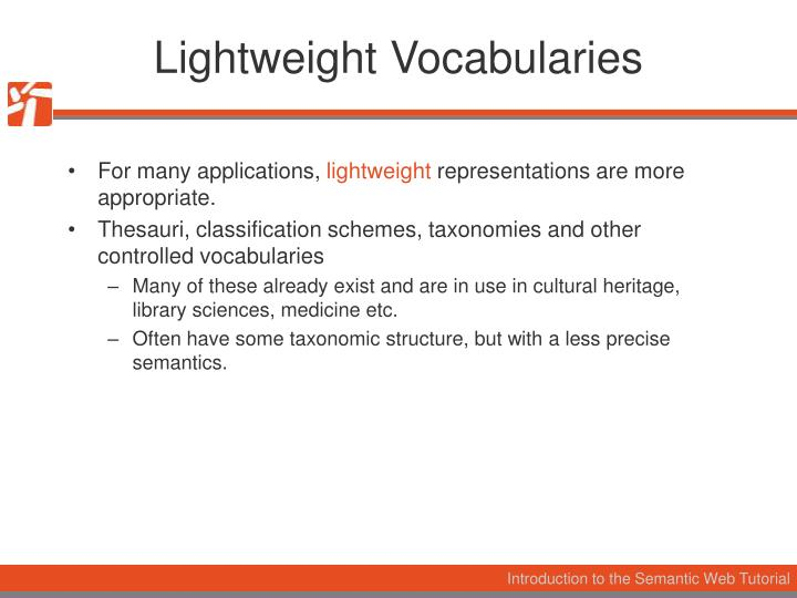 Lightweight Vocabularies