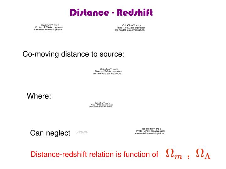 Distance - Redshift
