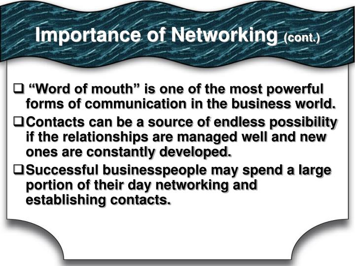 Importance of Networking