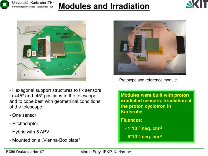 Modules and Irradiation