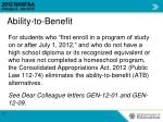 ability to benefit1