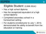 eligible student 668 32 e