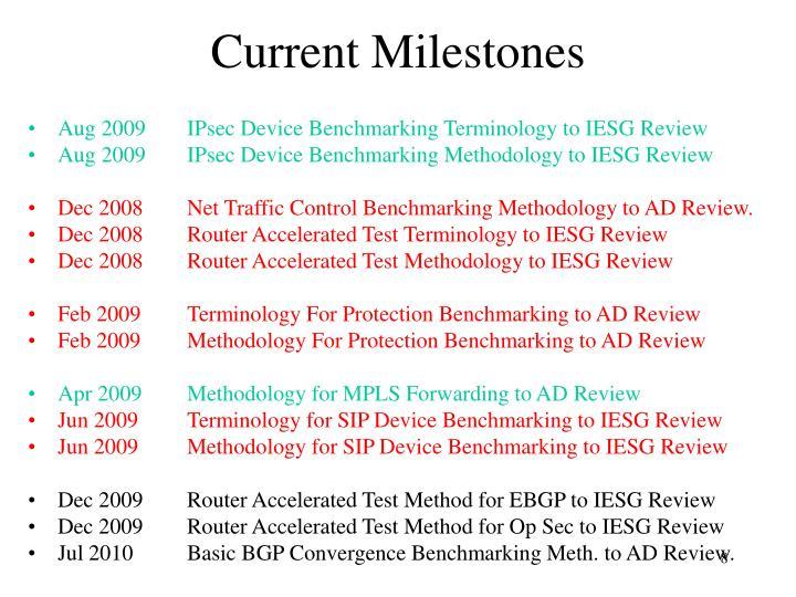 Current Milestones