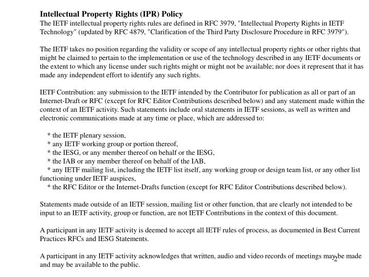 Intellectual Property Rights (IPR) Policy