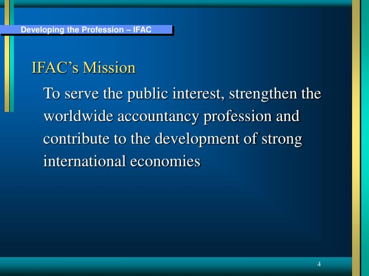 IFAC's Mission